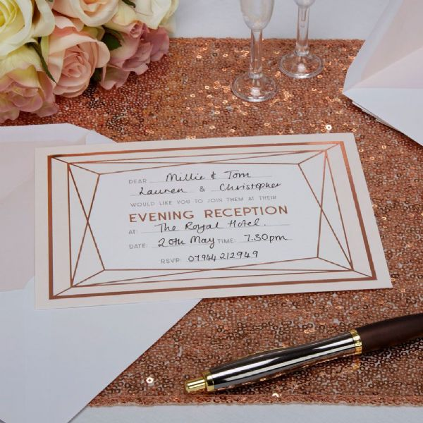 Geo Blush Evening Invitations (10)